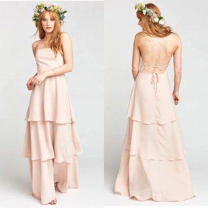 Show Me Your Mumu Calypso Ruffle Dress in blush